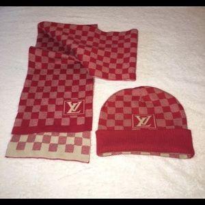 ffd007c42f16 Authentic Louis Vuitton Beanie   Scarf Set